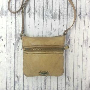 FOSSIL-Light Brown (Tan) Leather Crossbody Handbag
